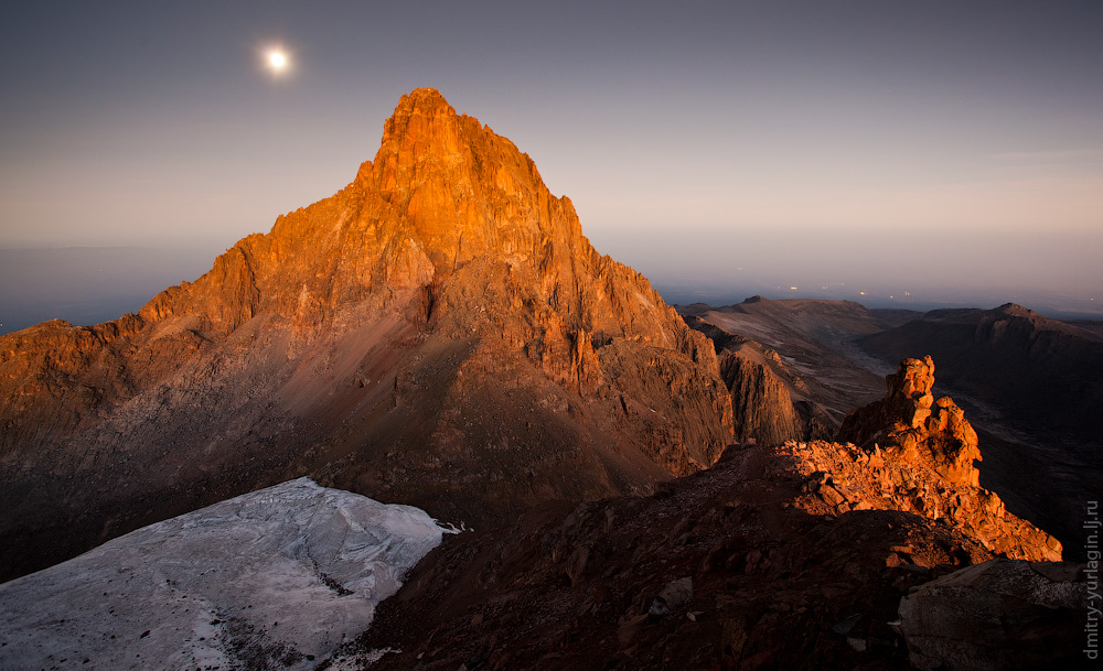 Mount kenya volcano